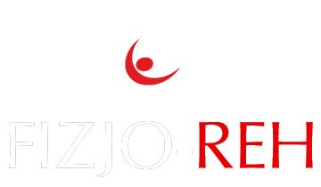 Białe logo Fizjo-Reh